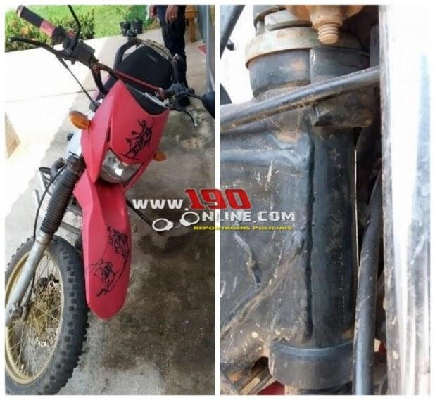 Alta Floresta – Moto com numeração de chassi e motor raspados, é apreendida pela Policia Militar