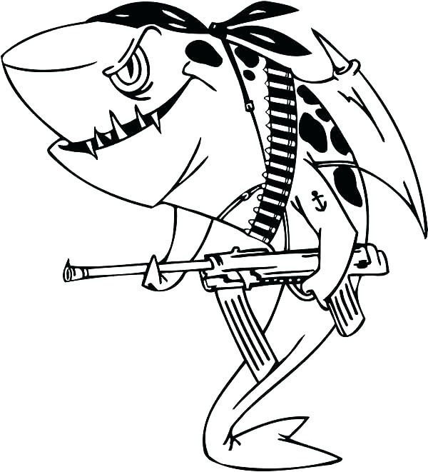 Realistic Shark Coloring Pages at GetColorings.com | Free ...