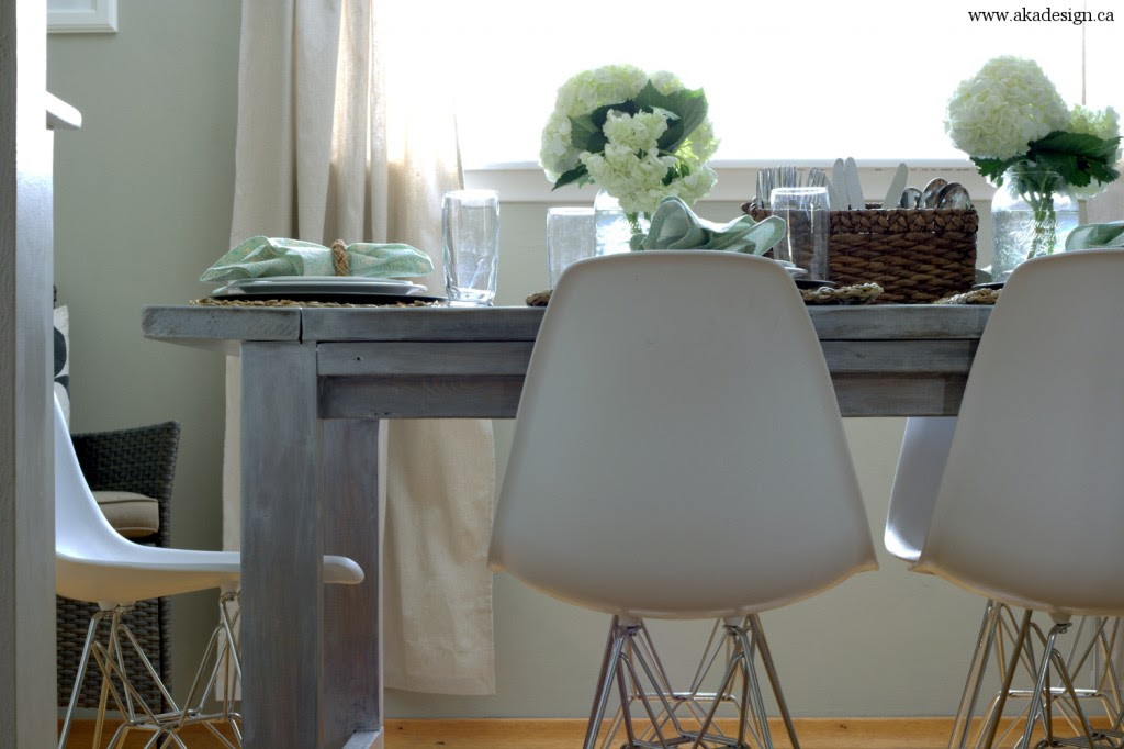 aka design farmhouse table eiffel look chairs1 1024x682 Modern Country Dining Room Source List
