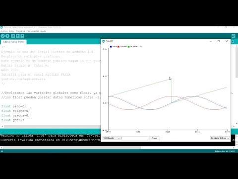 Cómo usar el Serial Plotter de Arduino IDE y ponerle nombre a cada gráfica