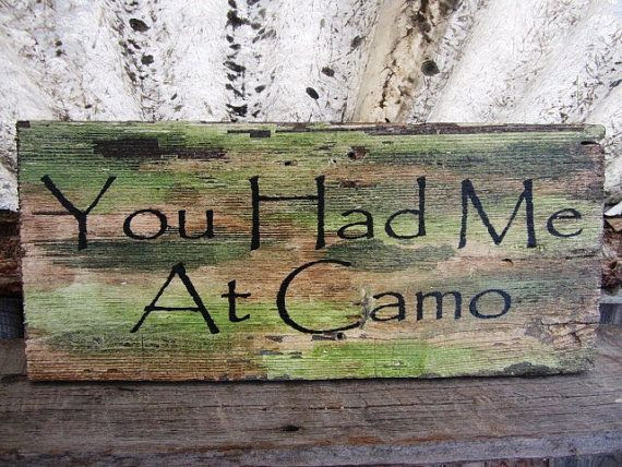 sign Montana Camoflauge make wood rustic Rustic Count  Made Wedding Wooden Camo Sign