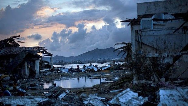 World Bank chief sees climate change intensifying storms such as typhoon Haiyan. (Credit: AP) Click to enlarge.