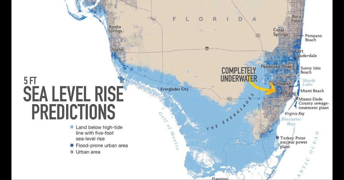 miami sea level rise map | boston massachusetts on a map