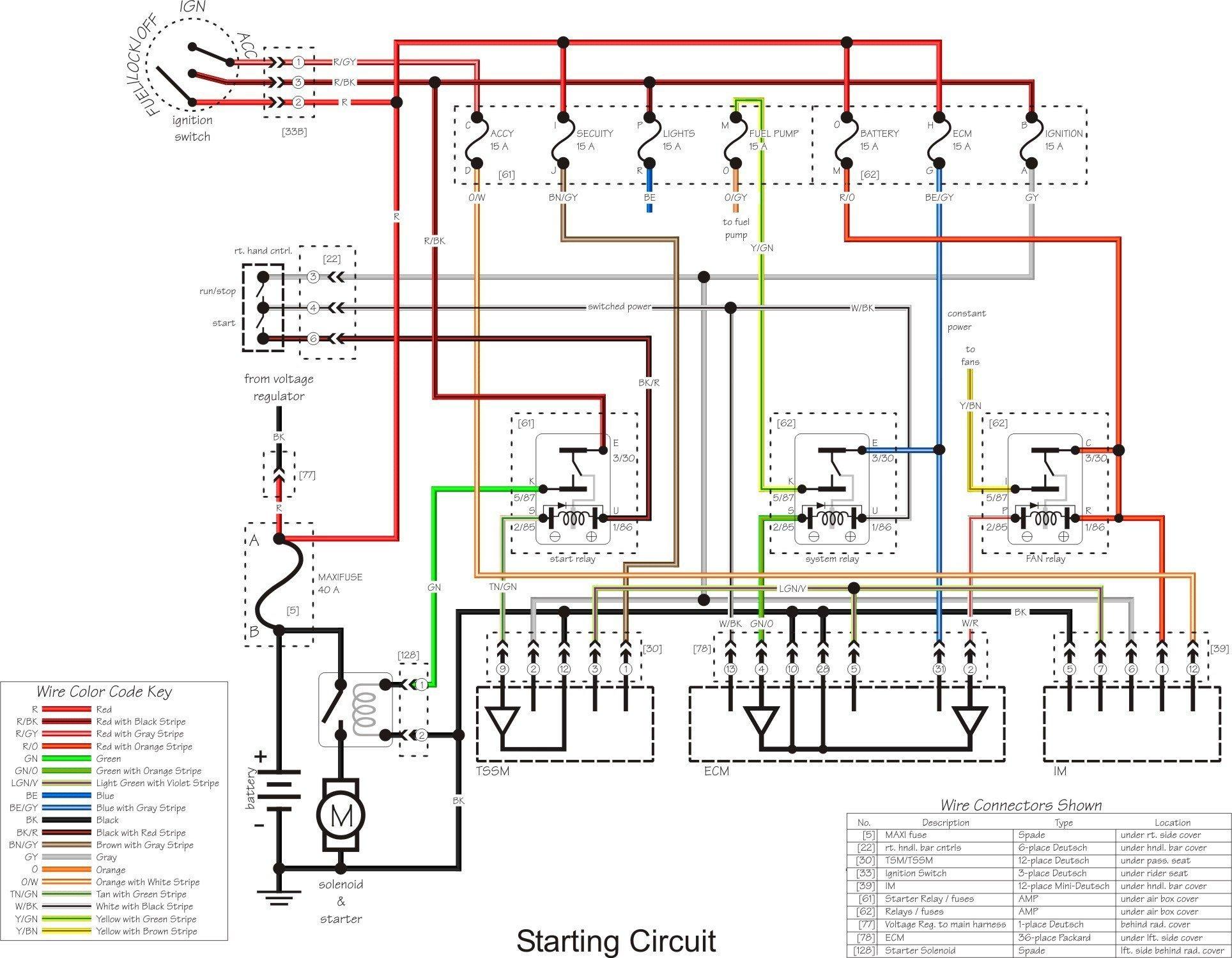 Harley Davidson Headlight Wiring Diagram