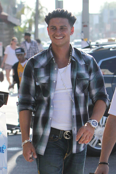 pauly d with his hair down. pauly d with his hair down