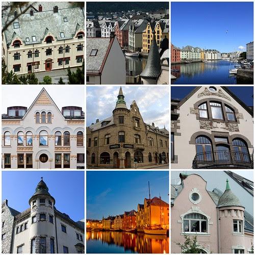 Ålesund Architecture Mosaic