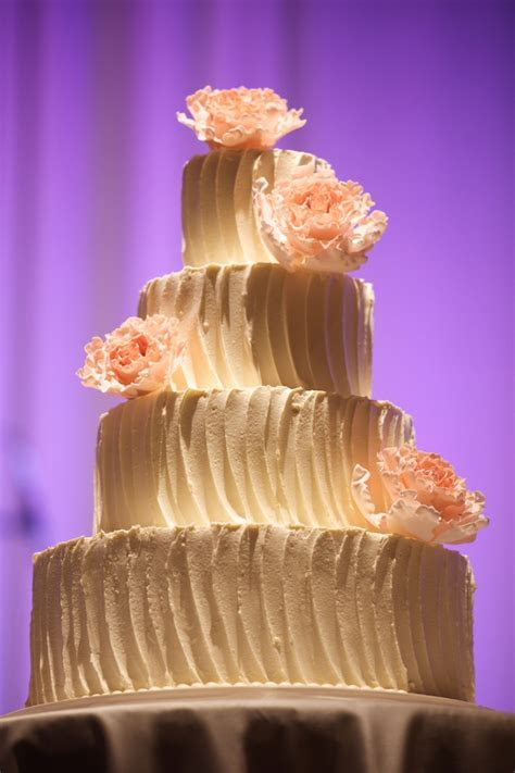 Peach and Cream Wedding Cake   Elizabeth Anne Designs: The