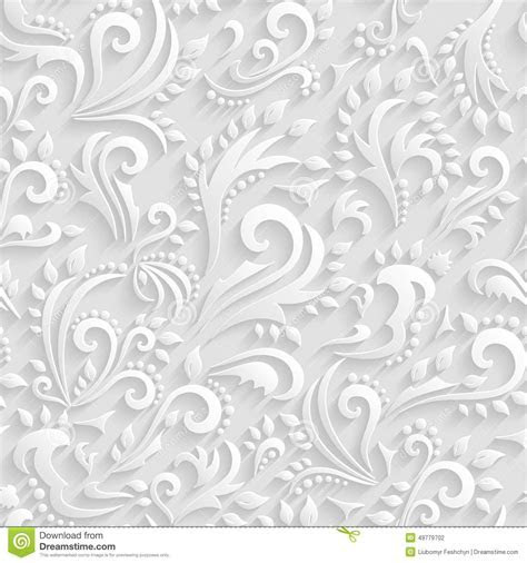 Vector Floral Victorian Seamless Background. Dreamstime