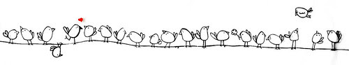 Birds in a row by The Wren Design
