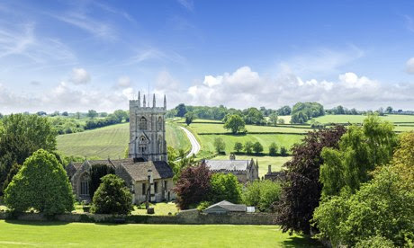 The picturesque village of Norton St Philip in Somerset