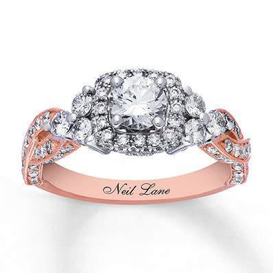 Neil Lane Engagement Ring 1 5/8 cttw Diamonds 14K Two Tone