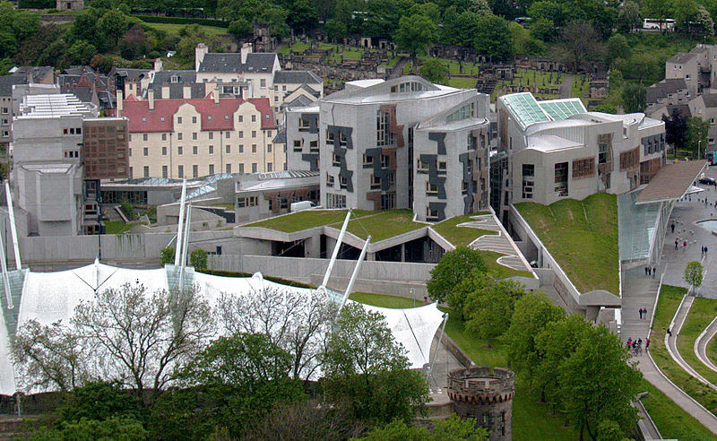 File:New Scottish Parliament building, seen from Salisbury Crags.jpg
