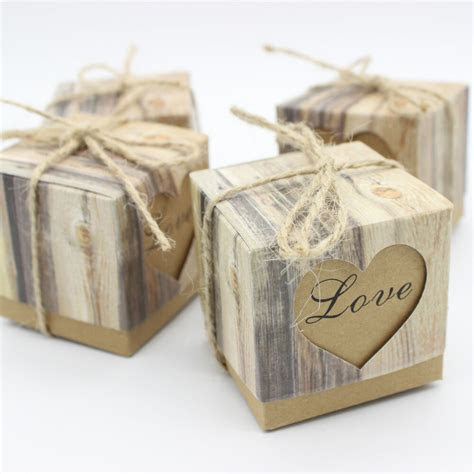 rustic love heart candy boxes vintage craft wedding box