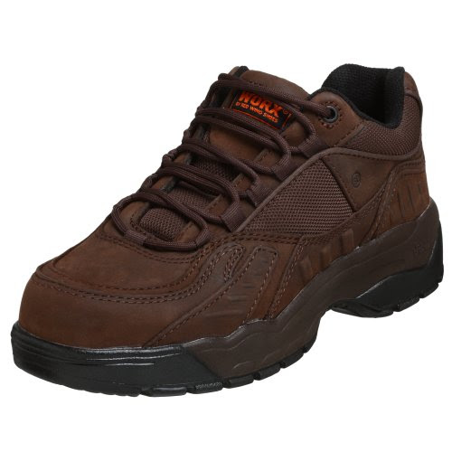 WORX by Red Wing Shoes Men's 5374 Steel Toe Athletic,Brown,7.5 M