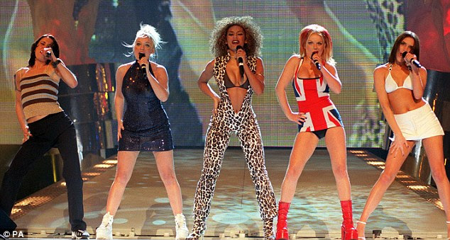 Back in the day: The Spice Girls performed a now infamous routine at the Brit Awards back in 1997