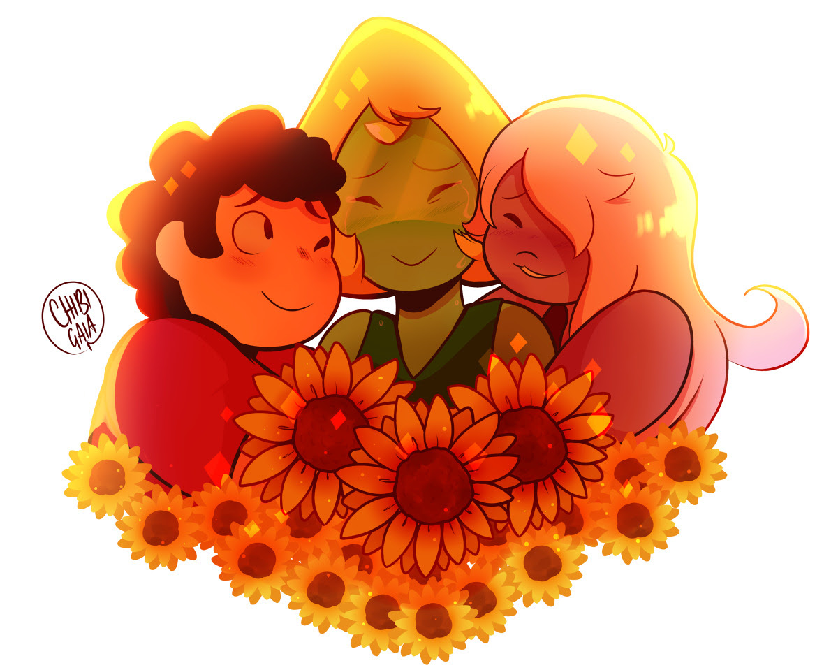 ✿ Sunflowers ✿ A thing I did after the Stevenbomb that I forgot to post TvT [Commissions page!]