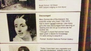 Mary Somerville's entry record at Kirkcaldy Gallery and Museum, Fife, Scotland