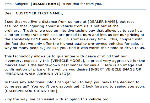 Advertising For Car Salesman