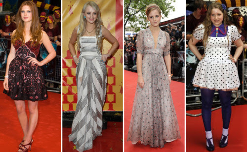 emma watson vintage. Half-Blood Prince London Premiere : Bonnie Wright, Evanna Lynch, Emma Watson