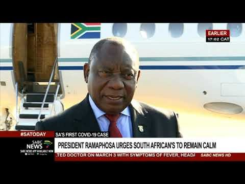 Ramaphosa on First Coronavirus case Confirmed In South Africa Today 5th 2020