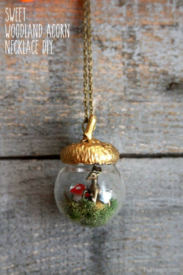 How to make a sweet woodland acorn necklace