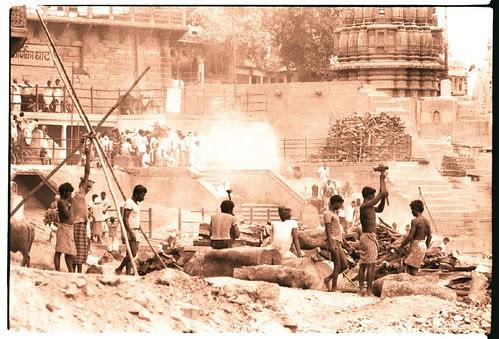 Varanasi, burning ghats
