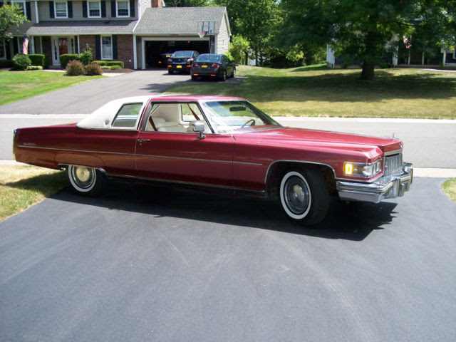 FANTASTIC 1975 CADILLAC COUPE DEVILLE RED, WHITE TOP ...