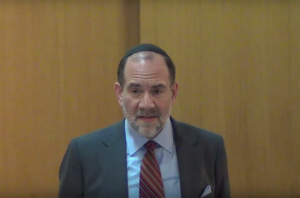 RJC Rabbi Jonathan Rosenblatt, who admits to having been naked with boys in his congregation. Photo: YouTube screenshot.
