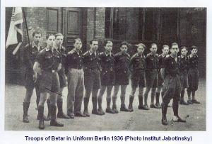 Miliciens du Betar à Berlin en 1936