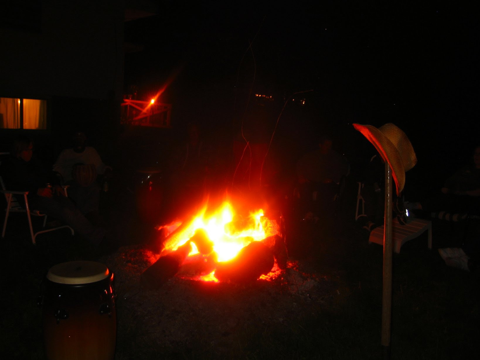 bonfire at oktoberfest in Lake Geneva - soul-amp.com