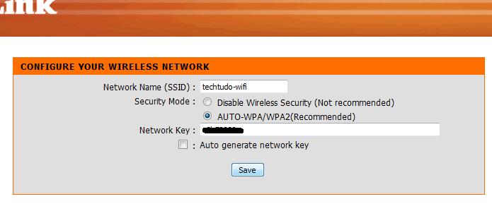 Configurando a rede Wi-Fi (Foto: Reprodução/Edivaldo Brito)