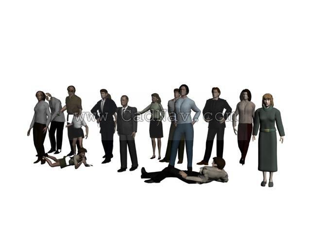 Group Of People 3d Model Cadnav - free download 3d models 3d max