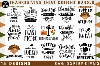 Download Thanksgiving Shirt Designs Bundle M38 Svg Dxf Eps Png Free