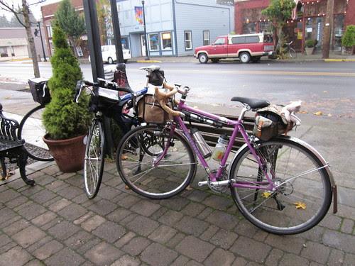 Our bikes in Vernonia
