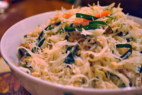 Fried Bee Hoon With Dried Shrimps and Chives