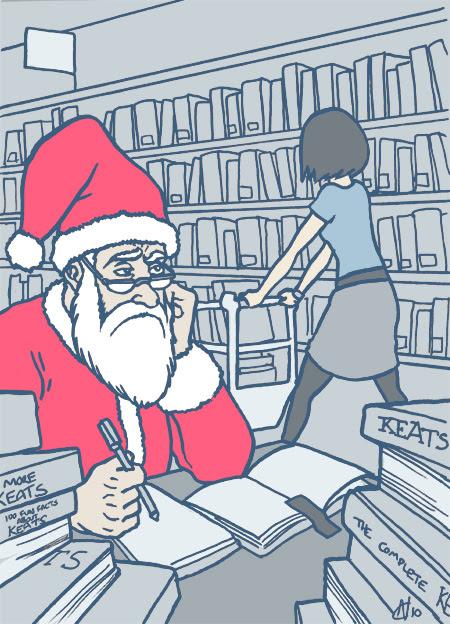 02 - bored but slightly horny English literature post-grad Santa