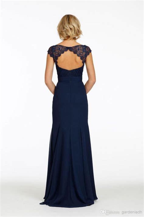 Wholesale Navy Blue Chiffon Bridesmaid Dresses with