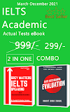 IELTS (Academic) 2 in 1 Actual Tests eBook Combo (March-December 2021) [Speaking + Reading] (Ebook , Ranjot Singh Chahal)