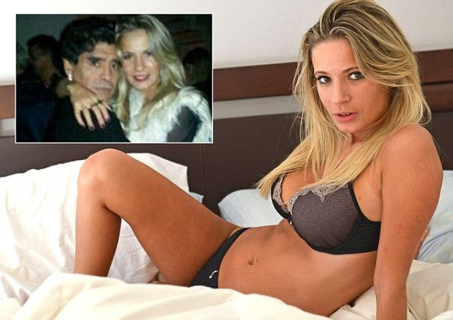 Eva Amodeo sparked romance rumours after posting picture of her with Diego Maradona online