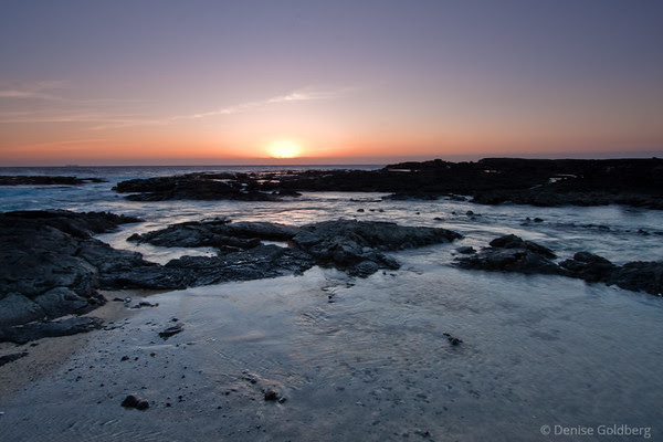 sunset and water, west coast of the Big Island of Hawaii