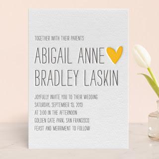 Passing Notes Letterpress Wedding Invitations