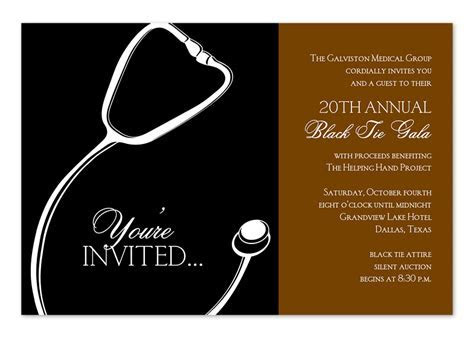 Medical Gala   Graduation Announcements by Invitation