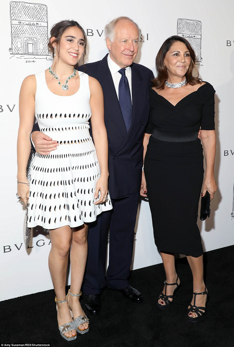 Family affair: Ginevra, Beatrice, and Nicola Bulgari were also at the event to celebrate their fashion house's new store
