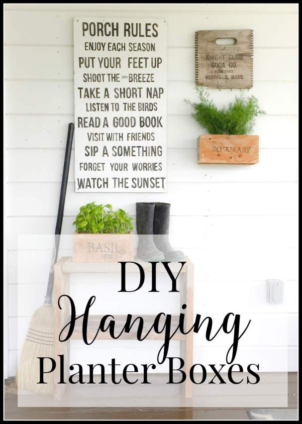 DIY hanging planter boxes. They are so much easier thank you think! | Twelveonmain.com