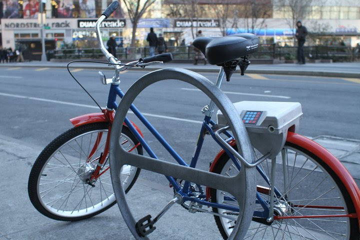 SoBi Bikes in New York City. Credit: The Social Bicycle System.
