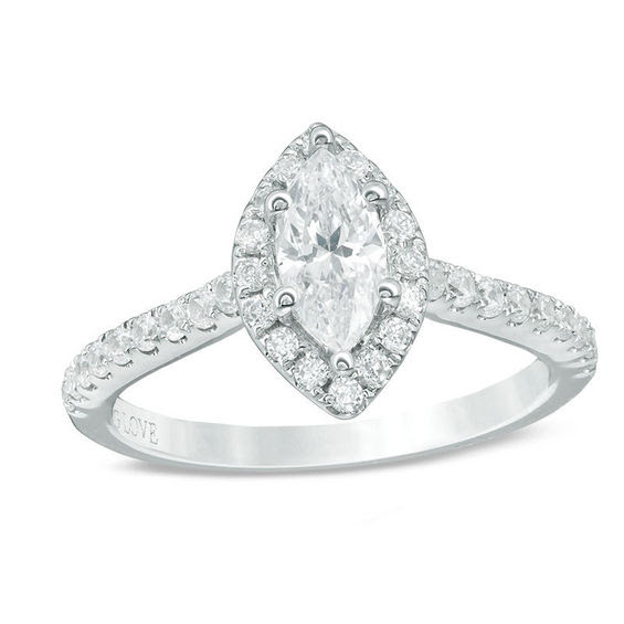 Vera Wang Love Collection 1 Ct Tw Marquise Diamond Frame