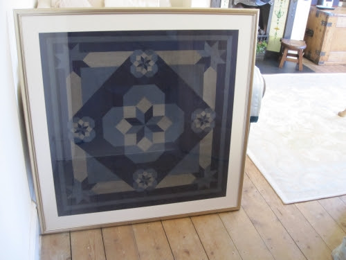 English Paper Pieced wall hanging made from Oakshott's Lipari