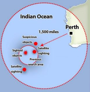 So far, ships in the international search effort have been unable to locate several 'suspicious' objects spotted by satellites in grainy images or by fast-flying aircraft over a vast search area in the remote southern Indian Ocean