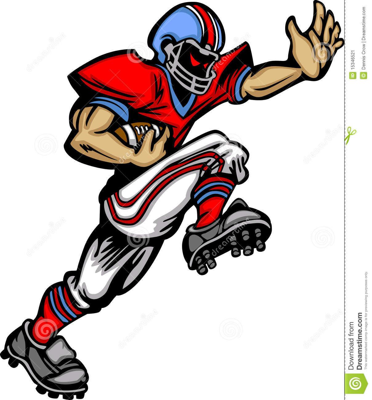 Cartoon Nfl Football Players