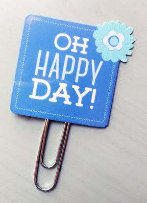 Oh Happy Day Planner Clip — Julie Bluet
